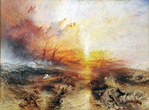 Das Museum Outlet–Slave Ship (slavers über Bord werfen die toten und sterben, Typhoon Coming On), 1840, gespannte Leinwand Galerie verpackt. 50,8x 71,1cm