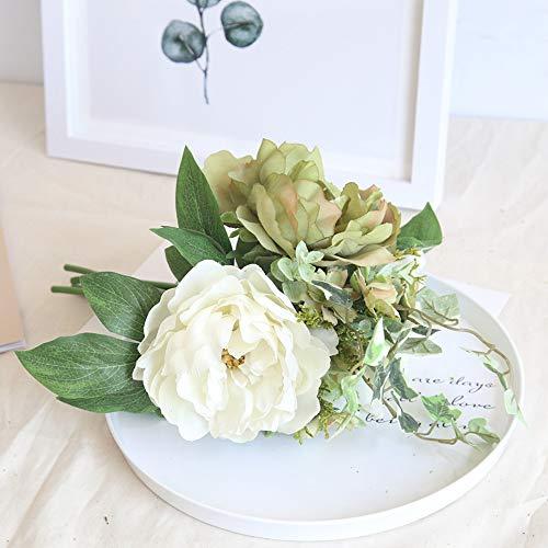 Dvhblxux Pivoine mariée mariage Faux Fleur en Gros Simulation Réel Naturel Babys Breath Artificielle la Décoration de Table de Mariage Bouquets
