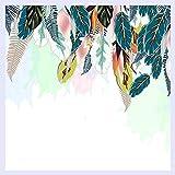 BHXINGMU Benutzerdefinierte Wandbild Tapeten Nordic Kleine Frische Grüne Blätter Aquarell Stil Wohnzimmer Sofa Tv Hintergrundbild Schlafzimmer Wandbild 240 Cm (H) X 330 Cm (W)