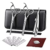 Best Haircutting Scissors - Professional Hair Scissors Set 2 pcs Thinning Scissors Review