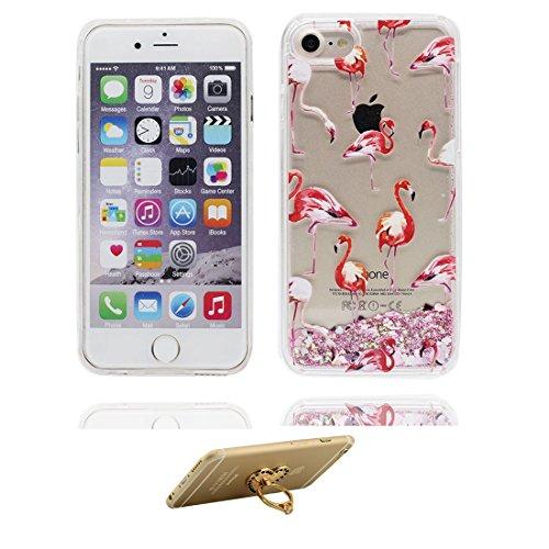 """iPhone 6 Plus Coque, Bling Glitter iPhone 6s Plus étui Cover (5.5""""), Fluide Liquide Sparkles Sables iPhone 6 Plus Case (5.5""""), Shell anti- chocs- (Fariy fée) et ring Support # 3"""
