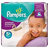Pampers - Active Fit - Pañales - Talla 5+ (13 - 27 kg) - 124 pañales