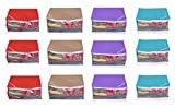 #5: Yellow Weaves Non Woven Saree Cover 12 Pcs Combo ,Multi Color