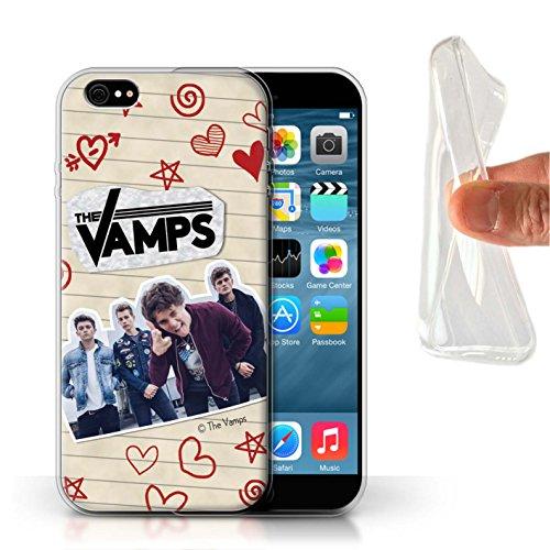 Officiel The Vamps Coque / Etui Gel TPU pour Apple iPhone 6S / Pack 5Pcs Design / The Vamps Livre Doodle Collection Stylo Rouge