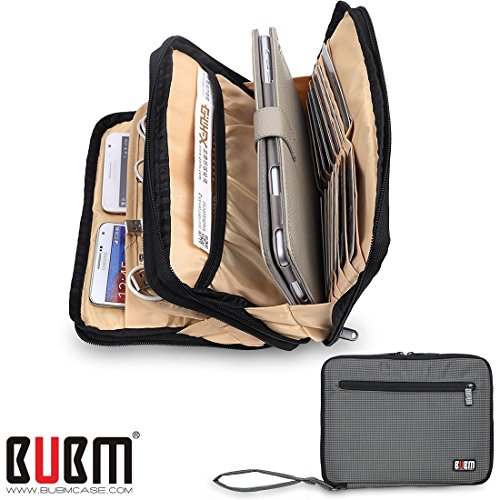 bubm-double-layer-padded-travel-electronic-case-packing-cubes-for-ipad-mini-makeup-bag-electric-grey