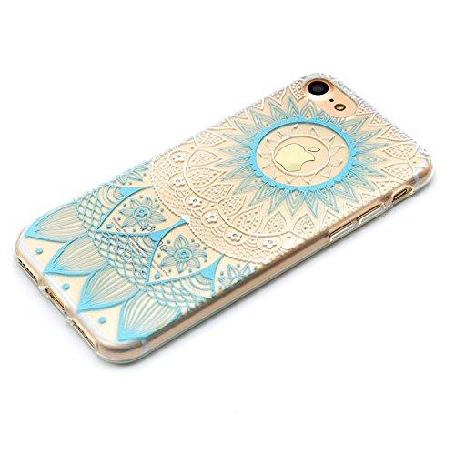 Custodia iPhone 6 Plus Spiritsun Apple 6 Plus iPhone 6S Plus Cover TPU Moda Elegante Case Cover Morbido Silicone Case Protezione Bumper Funzione Copertura Shell Per iPhone 6 Plus/6S Plus£¨5.5 pollici£ Blu Mandala