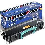 Alaskaprint Premium kompatible Toner als Ersatz für Lexmark X264 XL X364 X363 XL X264DN (Schwarz)