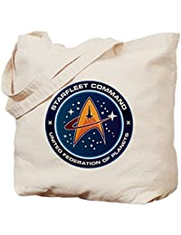 CafePress - Star Trek Federation Of Planets Patch - Natural Canvas Tote Bag, Cloth Shopping Bag