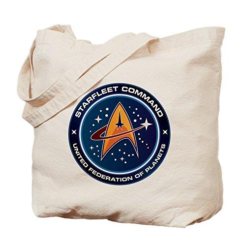 """CafePress Stoffbeutel mit Star-Trek-Aufdruck """"Federation Of Planets"""", Einkaufstasche aus Leinen, canvas, khaki, M"""