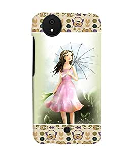 Fuson 3D Printed Girly Designer back case cover for Micromax Android A1 - D4281