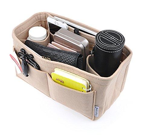 Vercord Damen Filz-Geldbeutel-Handpocket Tote-Einsatz-Organisator-Beutel-Shaper In Bag Small Medium Large XLarge Beige X-Large -