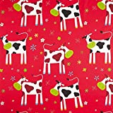 Fabulous Fabrics Cretonne Kinder Vorhangstoff Lustige Kühe