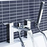 Chrome Waterfall Bath Filler Mixer Tap + Luxury Bathroom Hand Held Shower Head