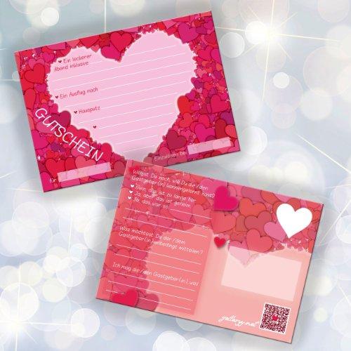 52 Postkarten Hochzeit - PORTOFREI möglich - Postkarten Set Hochzeit mit 52 Karten zur Hochzeit. Hochzeitsspiele mit Karten für Gäste und Brautpaar. Aufgabenkarten Herz