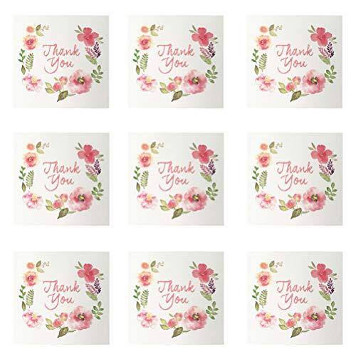 STOBOK Blume Dankeskarten Grußkarten,50er Pack (Grußkarten Schreibwaren)