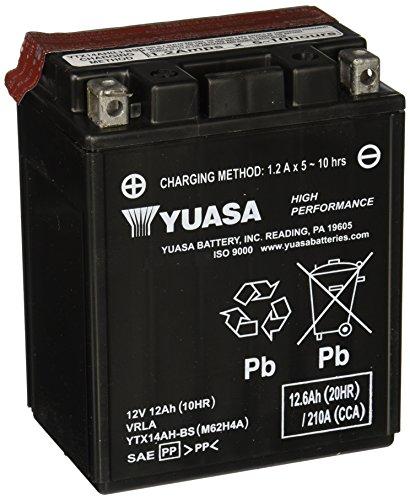 YUASA BATTERIE YTX14AH-BS AGM offen mit Saeurepack HP High-performance Powersports Batterie