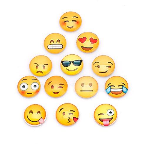 hrank Wandtattoo 13Teile Emoji-Cartoon Expression Merry Christmas Happy New Year Holiday Aufkleber Schlafzimmer Wohnzimmer Home Fenster Decor Vinyls Whiteboard Nachricht Halter ()