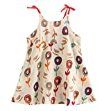 Girls Casual Dress for 1-5Years, Weant Newborn Baby Infant Toddlers Summer Sleeveless Cartoon Floral Princess Dress for Kids Toddlers Fashion Lovely Sundress Evening Party Tutu Skirt Dress Outfits