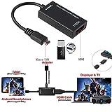 FullBerg MHL Micro USB Stecker auf HDMI Buchse Adapter mit Schwarz USB Type C Adapter zu Micro USB für Handy Tablet TV