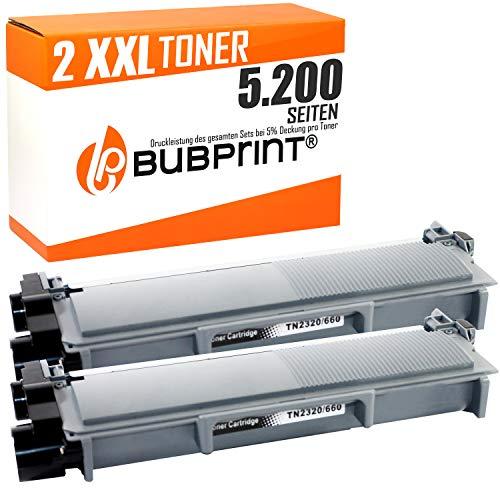 Bubprint 2 Toner compatibile per TN-2320 TN 2310 per DCP-L2540DN HL-L2320D HL-L2340DW HL-L2360DN HL-L2360DW HL-L2365DW MFC-L2700DW MFC-L2720DW nero