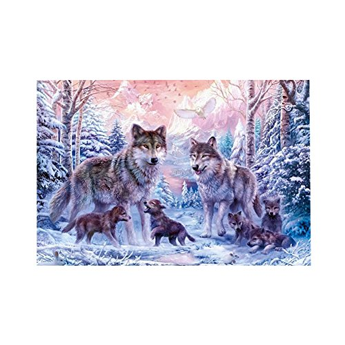 globeagle Wolf Familie 5D Diamant DIY Malerei Kit Home Decor Craft