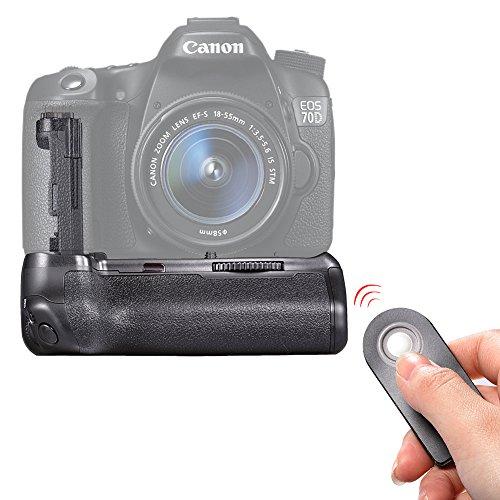 Neewer Batteria Grip BG-E14di telecomando di ricambio compatibile con batterie LP-E6o 6pezzi batteria AA per Fotocamera Canon EOS 70d 80d DSLR