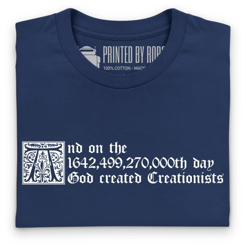 Creationists T-Shirt, Herren Dunkelblau
