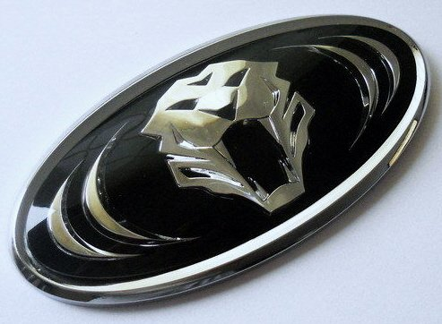 HECKKLAPPE CHROM TUNING 3D EMBLEM TIGER / Aufkleber / selbstklebend 3M (Tiger-emblem)
