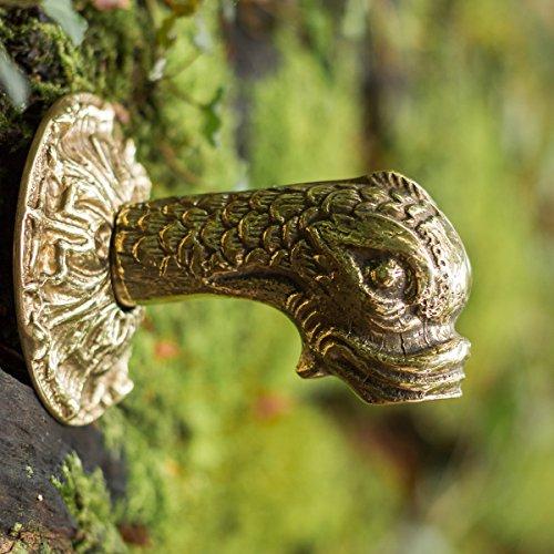 Antikas - Wasserspender Koi Brunnenfigur aus Messing Wasserspeier mit Fischkopf 1/2