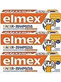 Elmex Kinder-Zahnpasta, 0-6 Jahre, 3er Pack (3 x...