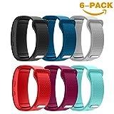 YaYuu Samsung Gear Fit 2 Pro/Fit 2 Bracelets de Montre, Bande de Remplacement en Silicone Souple Sport Strap pour Samsung Gear Fit 2 Pro SM-R365 and Gear Fit 2 SM-R360 Montre Intelligente