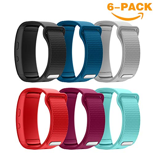 YaYuu Samsung Gear Fit 2 Pro/Fit 2 Bracelets de Montre, Bande de Remplacement en Silicone Souple Sport Strap pour Samsung Gear Fit 2 Pro SM-R365 and Gear Fit 2 SM-R360 Montre Intelligente