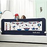 KOOLDOO Bettgitter 150cm Länge Blau abklappbar Bettschutzgitter für Babys und Erwachsenen