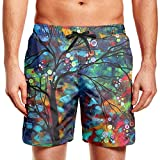 shyly XUWU Mens Surfing Board Shorts Lets Taco Bout It Swim Trunks with Drawstring,XL