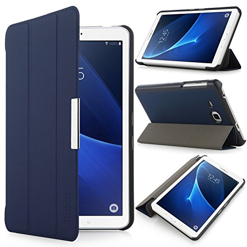 iHarbort Samsung Galaxy Tab A 7.0 Hülle - Ultra Slim Leder Tasche Hülle Etui Schutzhülle Für Samsung Galaxy Tab A 7.0 Zoll T280 T285 Case Cover Holder,(Galaxy Tab A 7.0, Dunkelblau) (Samsung Cover Tablet 7)