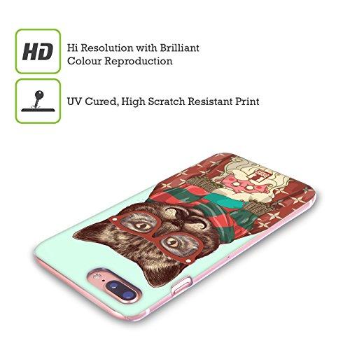Head Case Designs Hirsch Hipster Tiere Im Pullover Ruckseite Hülle für Apple iPhone 5 / 5s / SE Katze