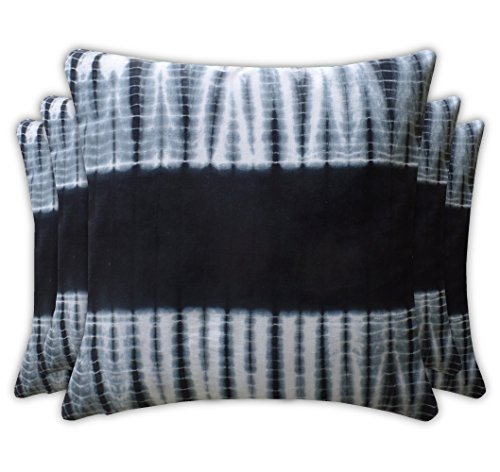 Jaipur Classic Cotton Black Cushion Covers Ethnic Traditional Tie Dyed 16x16 40x40cm set of 5 x