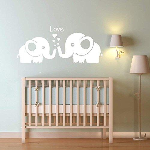 MAFENT 2Precioso Elefantes–Familia–Adhesivo de Pared Pared Pegatinas para Baby–Guardería Dormitorio Room Decoración...