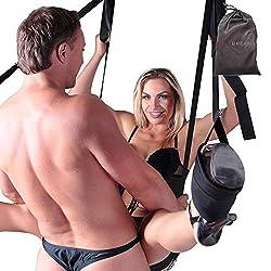 HOT DREAMS Liebesschaukel Tür Mit Sitz, Extrem Robuste Sexschaukel Für Paare, Türschaukel Belastbar Bis 120 Kg (inkl. E-Book)