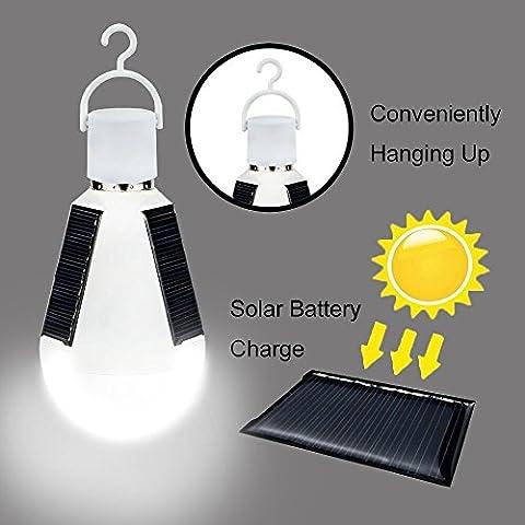 Tinpa solaire à LED d'urgence ampoule, 7W doux et chaud d'économie d'ampoules avec super Bright LED, lumière solaire à LED pour Home occultant, d'urgence