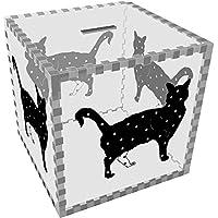 Preisvergleich für Azeeda Groß 'Stehende Stern Katze' Klar Sparbüchse / Spardose (MB00046562)