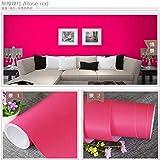 Grueso mate liso papel pintado autoadhesivo color sólido impermeable pegatinas de pared decorativo grueso rosa rojo