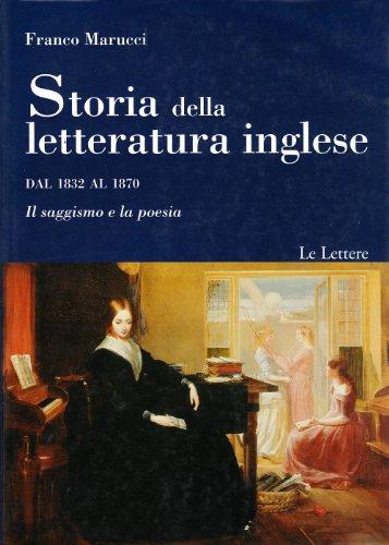 Storia della letteratura inglese. Dal 1832 al 1870. Il romanzo