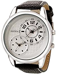 Exotica White Dial Analogue Watch for Men (EF-50-Dual-LS-W)