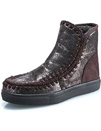 MForshop SCARPE DONNA STIVALETTI STIVALI pelliccia winter boots scarponi  laminati Y1729 e9243650b03