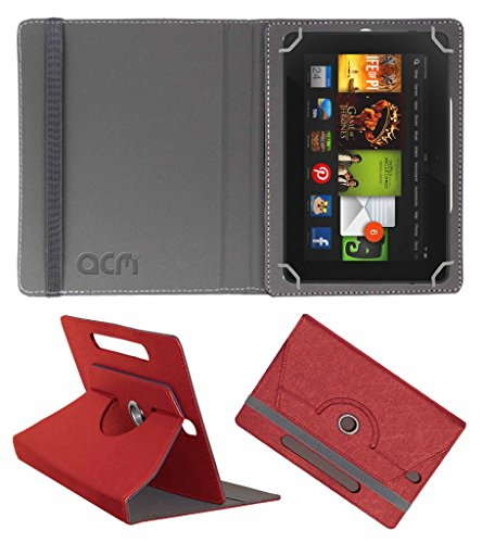 Acm Designer Rotating Leather Flip Case For kindle Fire Hd 7 2012 2nd Gen Tablet Cover Stand Peach  available at amazon for Rs.169
