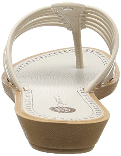 Grendha - Strings Thong Fem, Sandali infradito Donna Bianco (Weiß (white 8285))