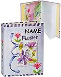 alles-meine.de GmbH Einsteckalbum / Fotoalbum -  Flower - Blumen - lila  - incl. Name - 11x15 & 10x15 - Ringbuch beliebig erweiterbar - zum Einstecken - für bis zu 80 Bilder - ..