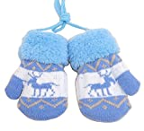 [Blue] Guanti in maglia per bambini Guanti invernali per bambini