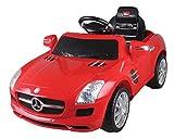 Original Mercedes Benz Linzenz Sportwagen SLS AMG Kinderauto Elektroauto Fernbedienung MP3 Anschluss in Rot